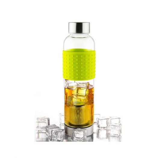 Ice Tea and Coffee Infuser Glass Water Bottle