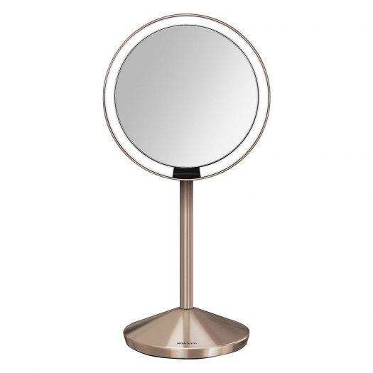 12cm Rose Gold-toned Travel Sensor Mirror