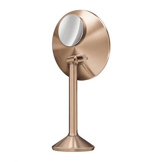 20cm Rose Gold-toned Steel Sensor Mirror Pro