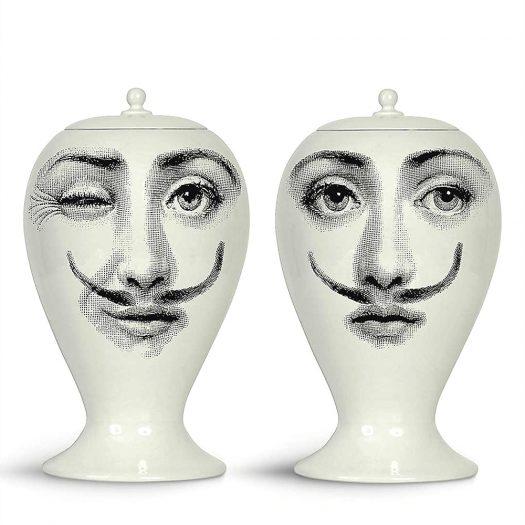 Moustache Porcelain Vase 15cm