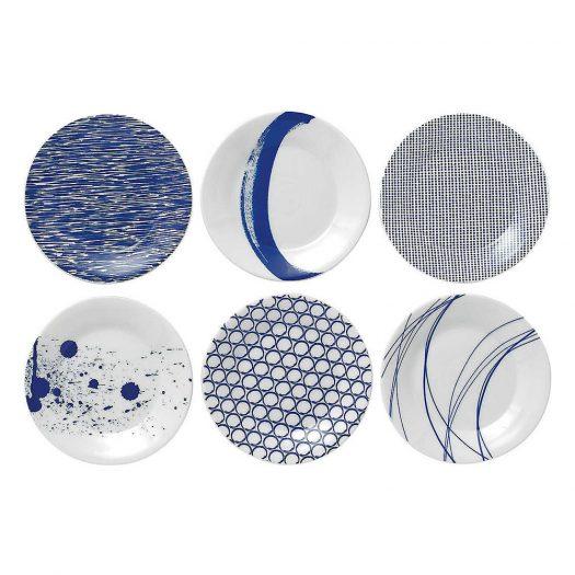 Pacific Patterned Tapas Plate Set