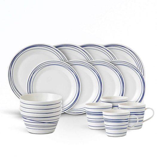 Pacific Lines 16-Piece Porcelain Dinner Set