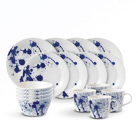 Pacific Splash 16-Piece Porcelain Dinner Set