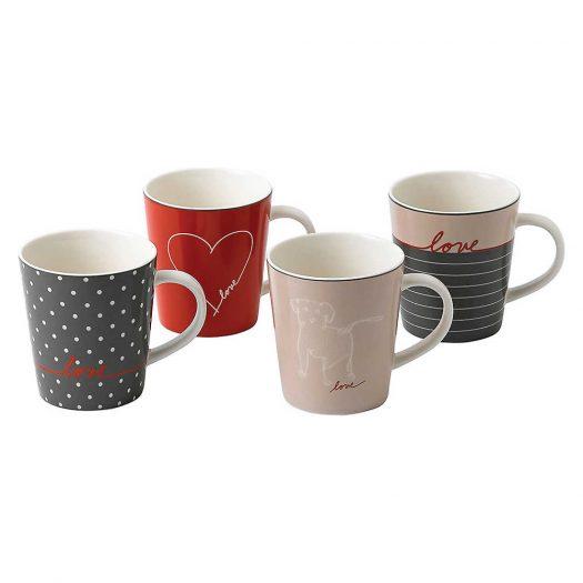 Ellen DeGeneres Accent Set of 4 Mugs