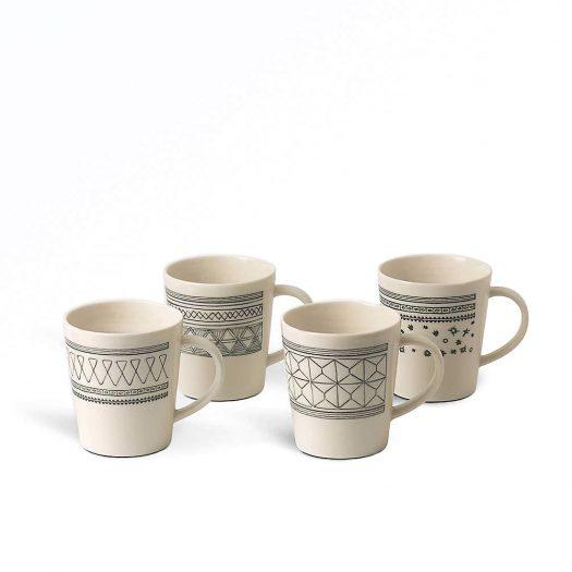 Ellen DeGeneres Porcelain Mugs Set of Four