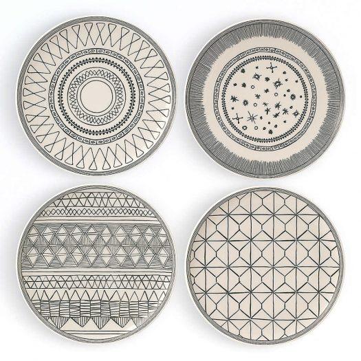 Ellen DeGeneres Porcelain Side Plates Set of Four 21cm