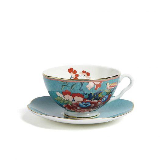 Paeonia Blush China Teacup and Saucer