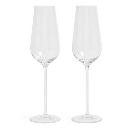 Globe Champagne Flutes Set of Two