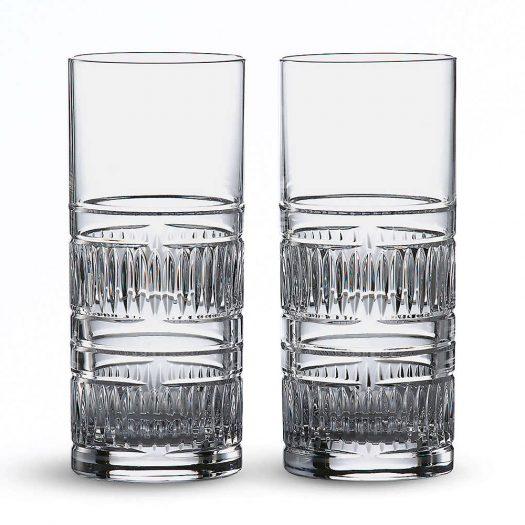 Radial Hi Ball Crystal Glasses (set of 2)