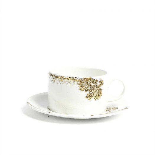 Jardin Printed China Teacup and Saucer