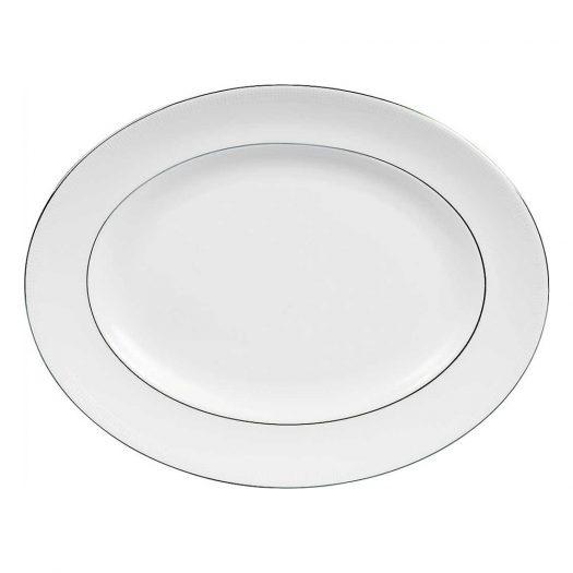 Blanc Sur Blanc Oval Dish 39cm