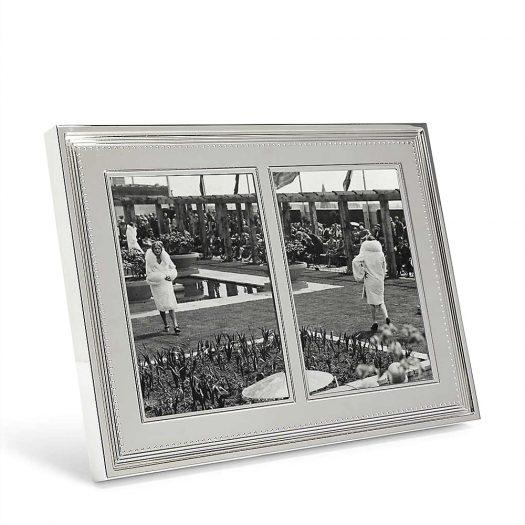 Grosgrain Double Invitation Photo Frame 13x18cm