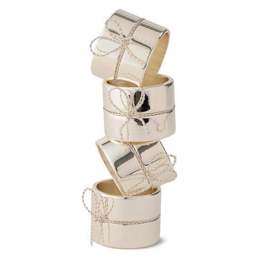Set of Four Love Knots Napkin Rings