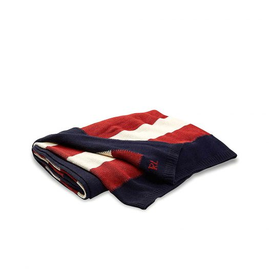 USA Flag knitted Cotton Throw 140cm x 180cm