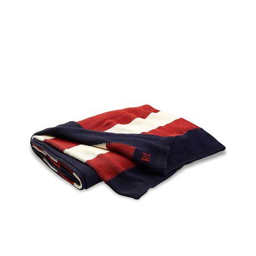 USA Flag knitted Cotton Throw 140cm x 180cm