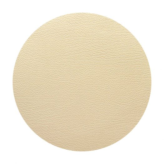 Circle Recycled-leather And Rubber Tablemat