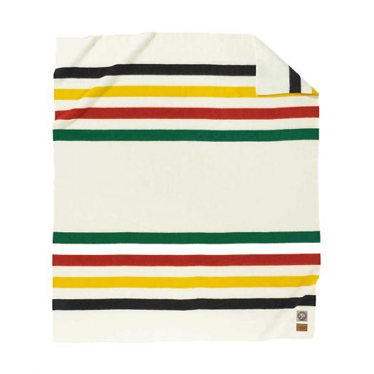 Glacier National Park Striped Wool Throw 76cm x 54cm