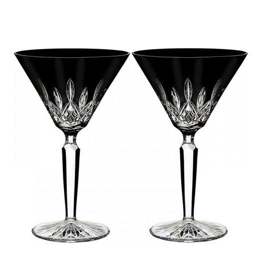 Lismore Black Martini Glasses (Set of 2)