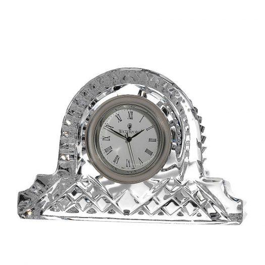 Lismore Crystal Cottage Clock 12cm