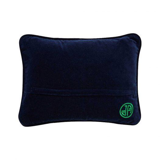 Jonathan Adler Needlepoint Bestie Worstie Wool Pillow