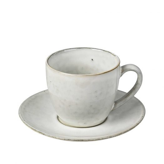Nordic Sand Stoneware Cup and Saucer