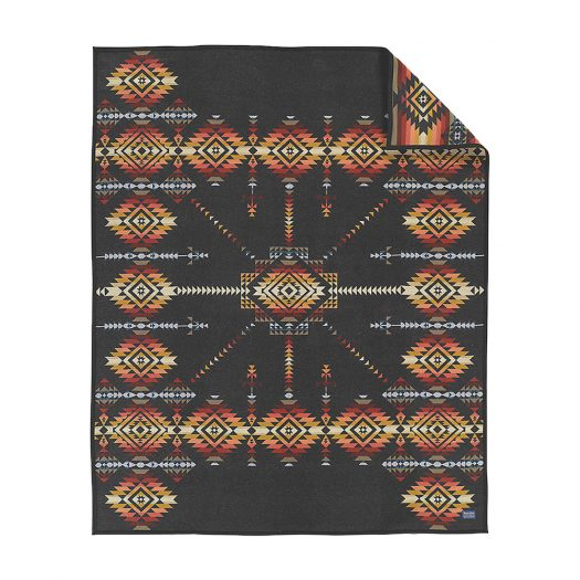 Pueblo Dwelling Wool and Cotton-blend Blanket 163cm x 203cm
