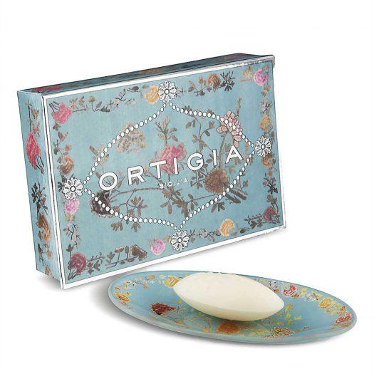 Floria Bar Soap and Dish Set