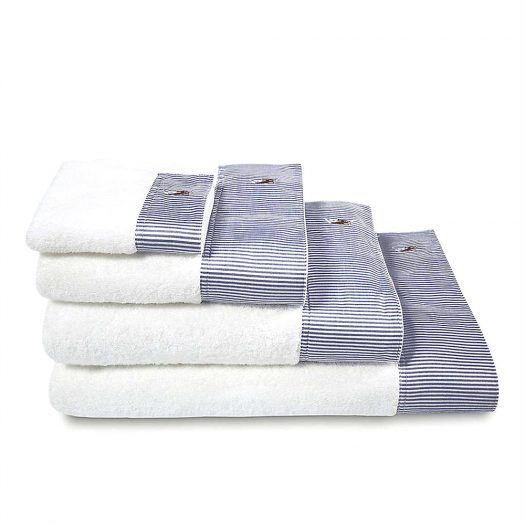 Oxford Striped Cotton Bath Linen