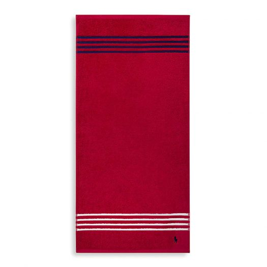 Travis Red Rose Cotton Hand Towel 50x100cm