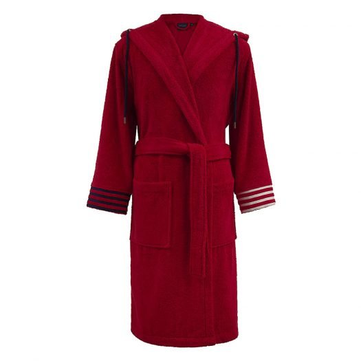 Logo Embroidered Cotton Towelling Robe