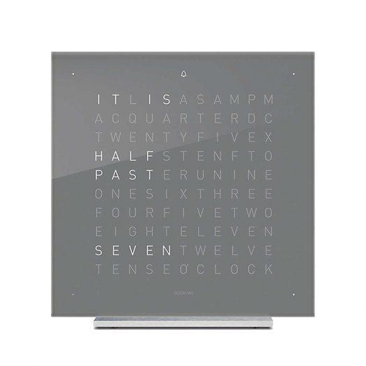 Touch Early Grey Acrylic Clock 13.5cm