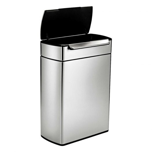 Touch-bar Stainless Steel Recycling Bin 48L