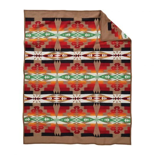 Tucson Graphic-print Wool-and-cotton Blanket 80cm x 60cm
