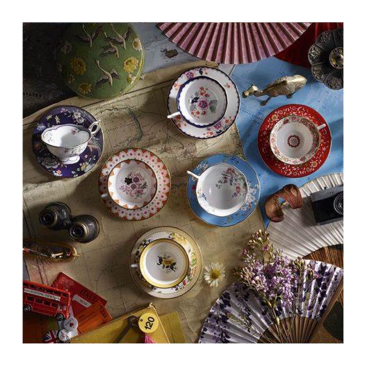 Wonderlust Crimson Orient Teacup and Saucer