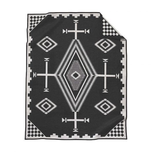 Los Ojos Wool and Cotton-blend Blanket 163cm x 203cm
