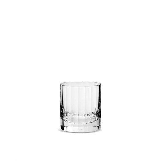 Fluted Crystal Double Old Fashioned Glass 9cm