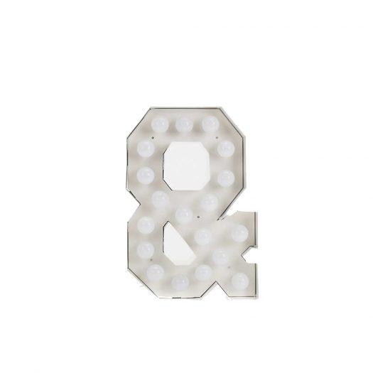 Seletti Vegaz Metal Alphabet Lamp 60cm
