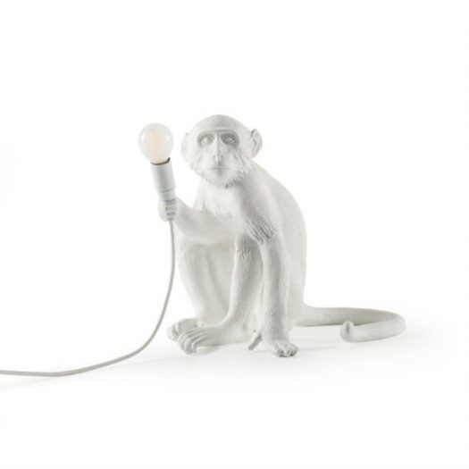Sitting Monkey Resin Lamp