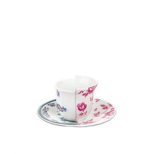 Leonia Hybrid Porcelain Coffee Cup And Saucer