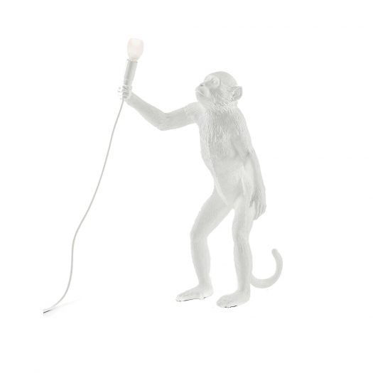 Monkey Standing Resin Lamp 46cm