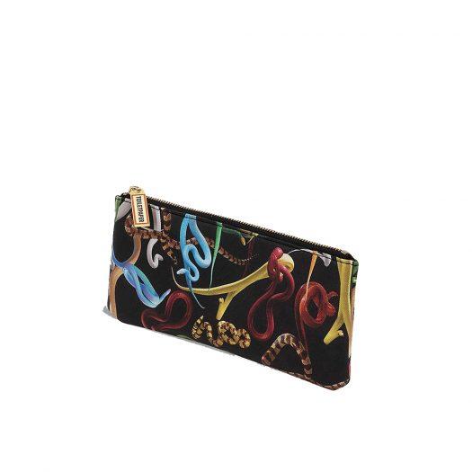 Seletti Wears Toiletpaper Snake-print Faux-leather Pencil Case 21cm X 9cm
