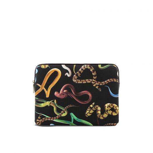 "Wears Toilerpaper Snake-print 13"" Canvas Laptop Case 34cm X 25cm"