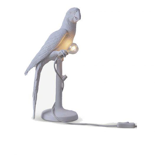 Parrot Resin Indoor Lamp 40.5cm