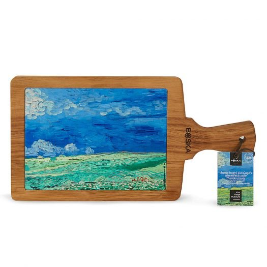 Van Gogh Ceramic and Wooden Serving Board