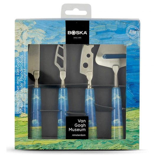 Van Gogh Mini Ceramic and Steel Cheese Knife Set of Four