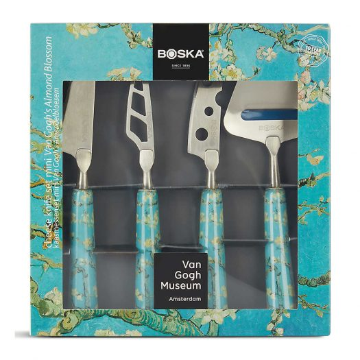 Almond Blossom Van Gogh Stainless Steel and Ceramic Cheese Knife Set 16cm