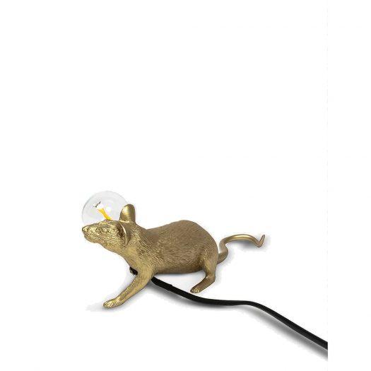 Lop Mouse Metallic Resin Lamp 13cm