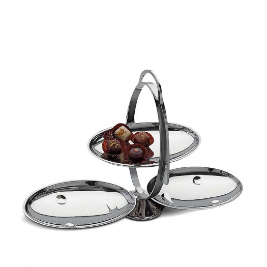 Anna Gong Folding Stainless Steel Cake Stand