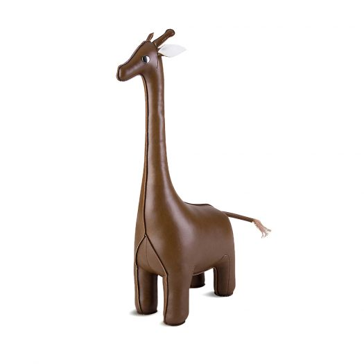 Giraffe Faux-leather Doorstop