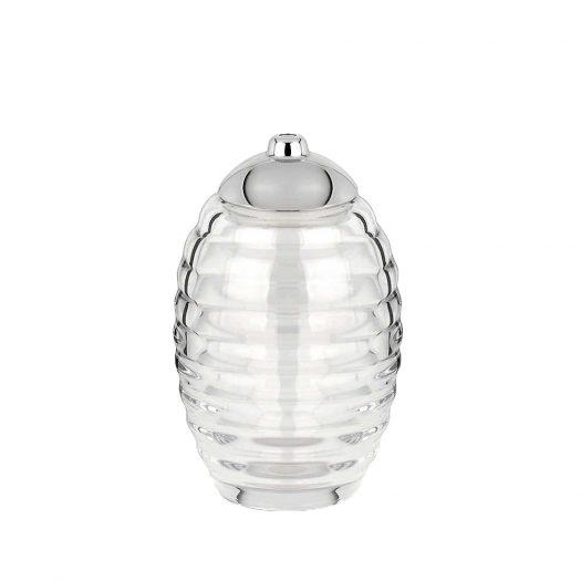 Honey Jar-shaped Glass Sugar Dispenser 14.2cm